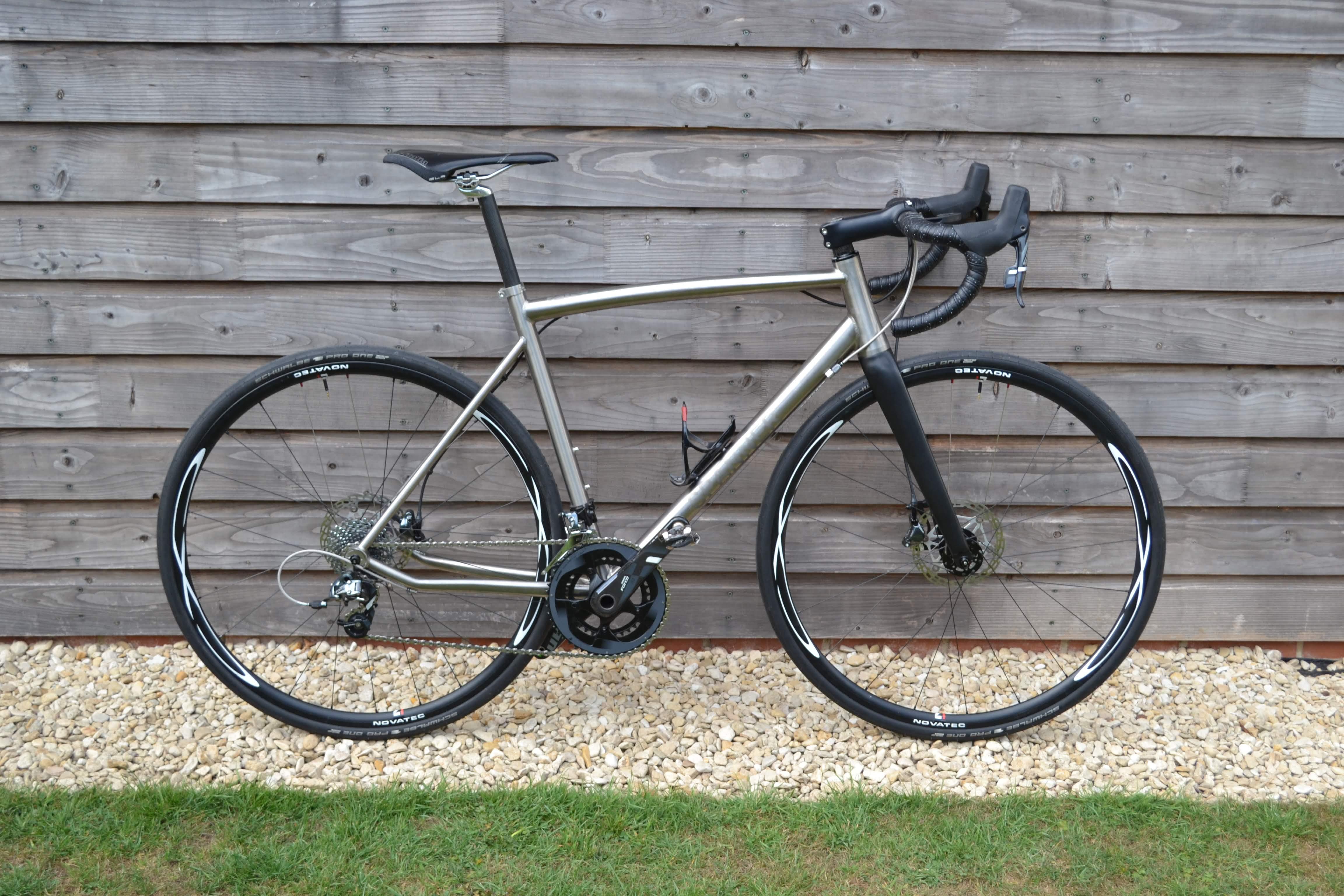 Tim's Lightweight Titanium Disk Road Bike